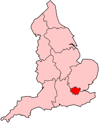 Map location of London, England