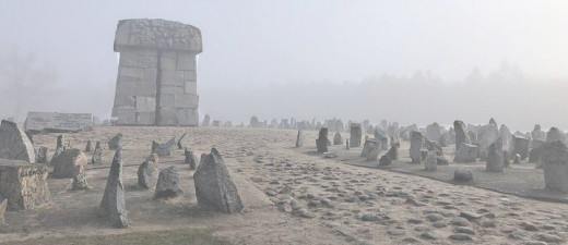 Treblinka memorial. Quarry-stones symbolizing tombstones.
