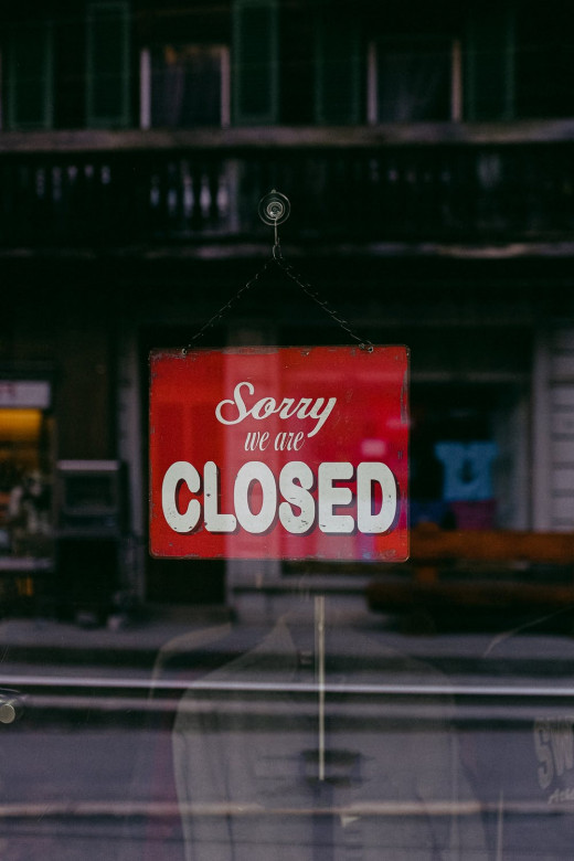 Business Closed Due to Lockdown