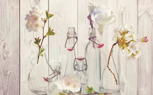 Glass Bottle Flower Display