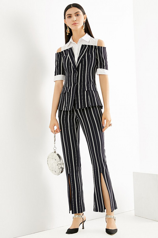 A modern look using stripes