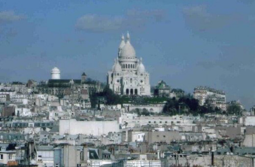 View of Sacre Coeur from the Tuilleries Quarter