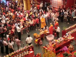 Devotees seeking blessing