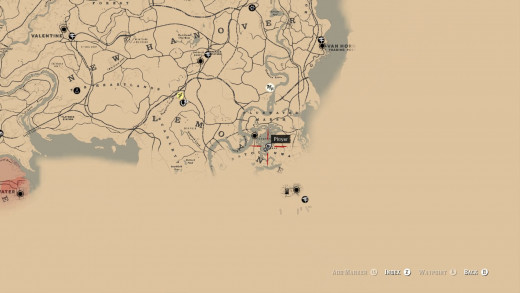 Map Location of the Cat Skull Mask