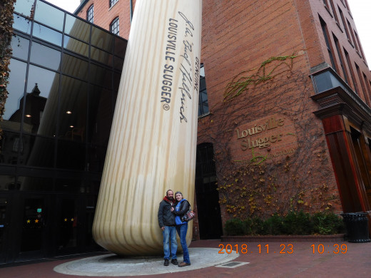 Standing at the Louisville Slugger Museum