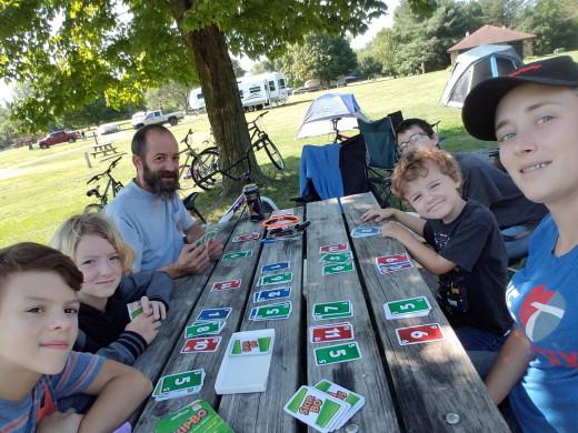 Camping at Potato Creek Park