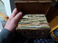 An Old Recipe Box from a Steamer Trunk
