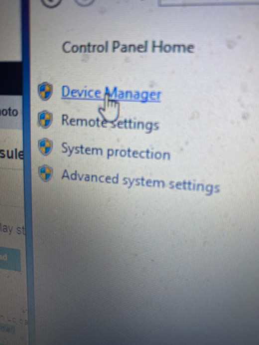 You will need to go into Device Manager for this solution, from the system properties screen.