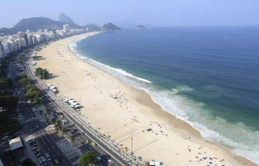 Copacabana Beach is popular for tourists.