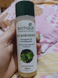 Review for Biotique Bio Bhringhraj Therapeutic Hair Oil for Falling Hair.