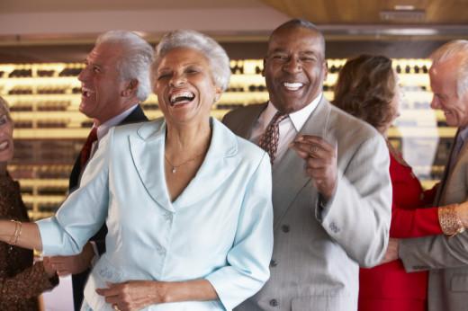 older adults enjoying themselves