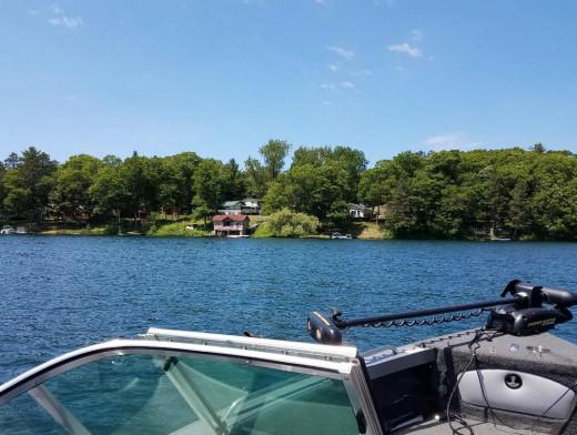 Twin Bear Lake, near Iron River, Wisconsin.
