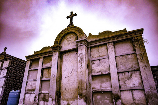 A burial vault in a New Orleans cemetery