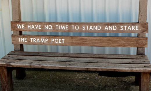 The Tramp Poet: Image by Schnipidy from Pixabay