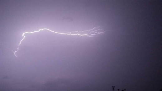 A lightning strike can produce temperatures up to 5 times hotter than sun surface