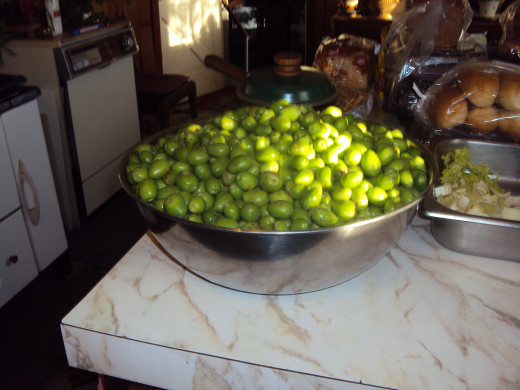 These 2020 plums can be pickled, but they would never grow to the normal harvesting size to fill bowl after bowl of deliciousness.