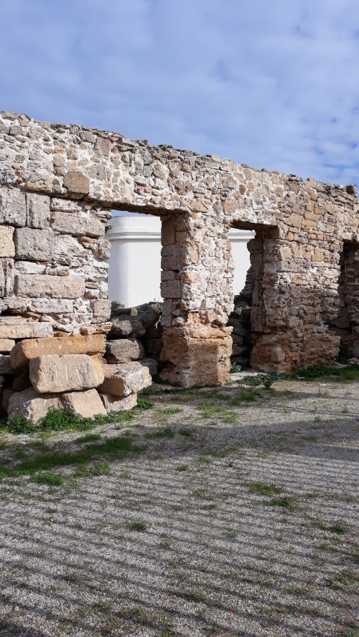 Remains of the ancient Roman theater.