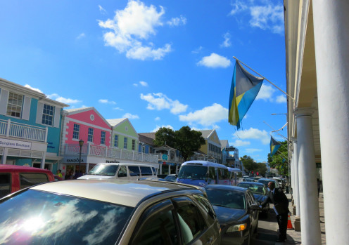 Shops on Bay Street in Nassau, Bahamas