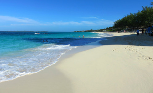 Cabbage Beach on Paradise Island, Bahamas