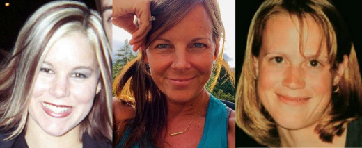 Rachel Cooke (left), Suzanne Morphew (middle), and Amy Bechtel (right), all went missing while out exercising alone.