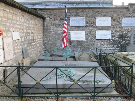 Lafayette's grave in Paris, France