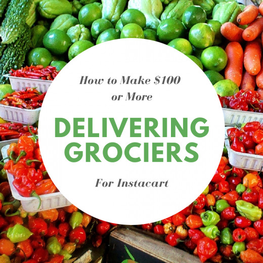 Instacart uses local people to pick up and deliver your groceries to you, so you don't have to get out when you don't want to, or can't.