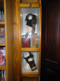 Repurposing Shelves to Display Cabinet for WWII Artefacts