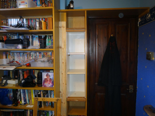 Middle shelves fitted in place.
