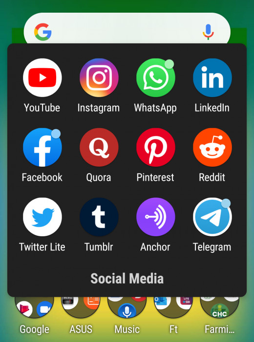 Many of these social media are also available on mobile.
