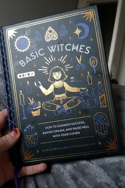 The hardback cover of Basic Witches, illustrated by Camille Chew
