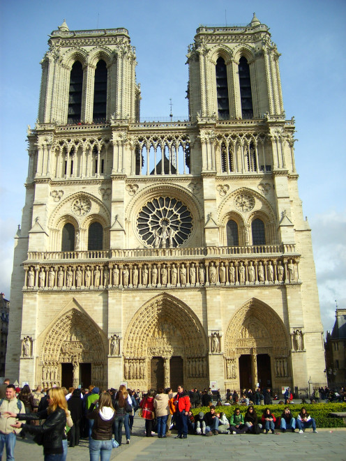The Notre Dame Cathedral in Paris, France