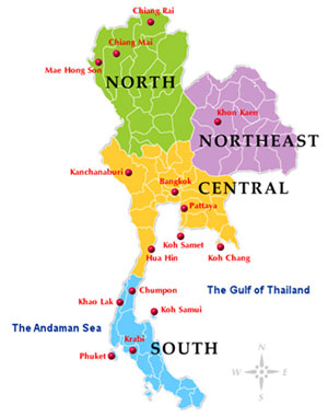 Thailand Regions