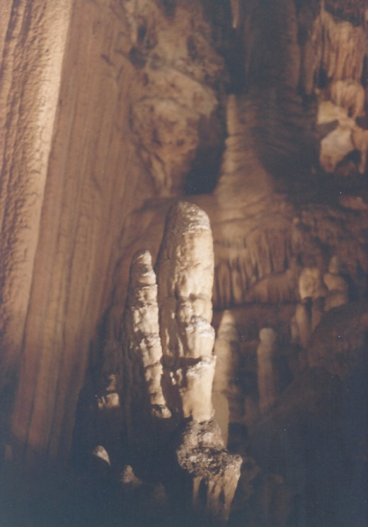 Stalagmites in the foreground, Luray Caverns, VA