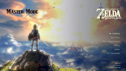 The Master Mode in Legend of Zelda Breath of the Wild