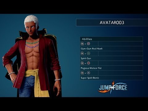 The character creator in Jump Force
