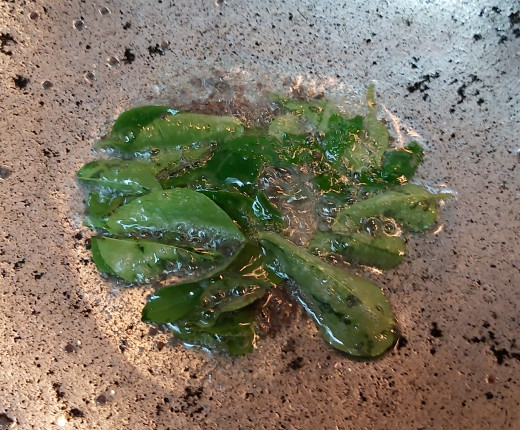 Add 1-2 springs of fresh curry leaves. Fry.