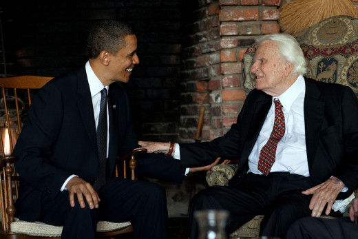 Billy Graham, world-respected Christian theologian whose ministry spans over 6 decades, meets with President Obama.
