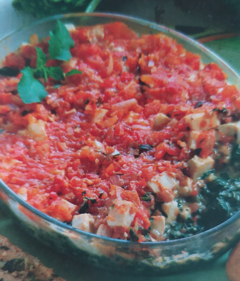 With Tomato Topping