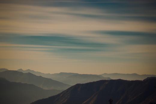 Evening sky in Shimla