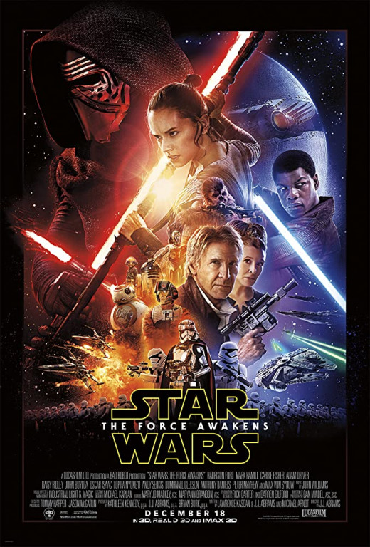 Even the poster is a copy of older Star Wars posters.