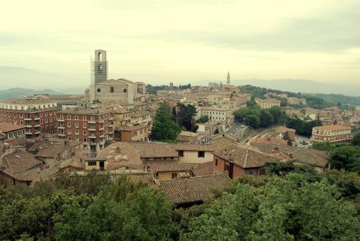 Stunning view of Perugia.