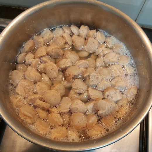 Cook for 3-4 minutes or until soya chunks turns soft (you can check if it is cooked or not by pressing chunks between your fingers). Do not overcook as chunks turn soggy.