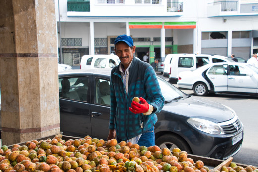 A fruit seller on the streets of Rabat