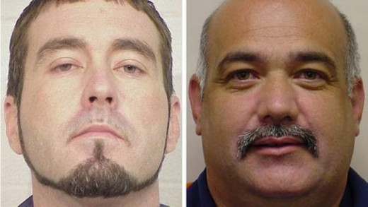 """George Kennedy (left) and Roy Lee Smith (right), are both convicted sex offenders that were arrested and named """"persons of interest"""" in the abduction of Nevaeh Buchanan."""