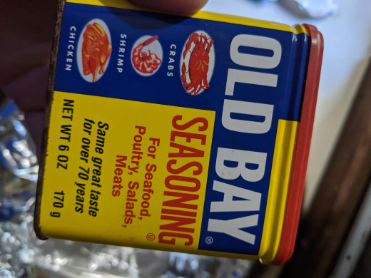 Put old Bay on oil