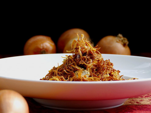 Fried Brown Onion Slices