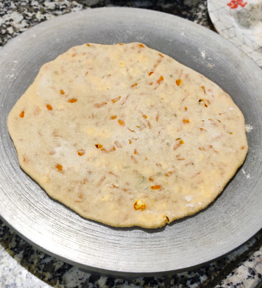 Paratha ready to toast