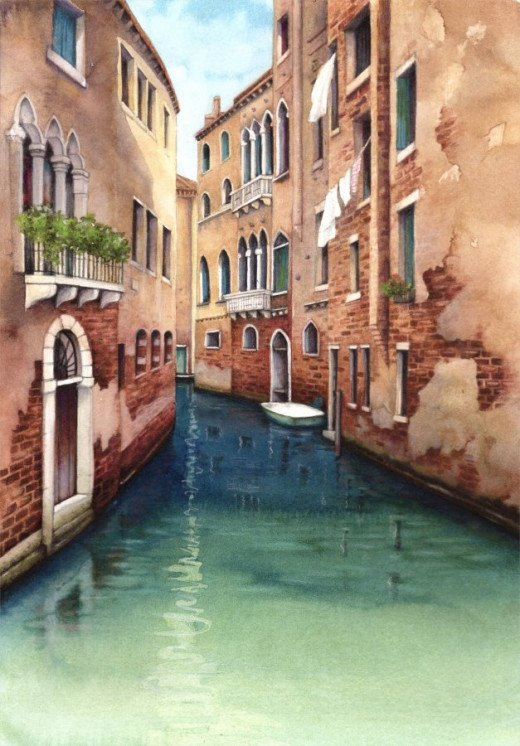 Venice Canal by Helen Lush