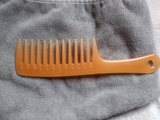 A wide tooth comb is gentle on your hair.
