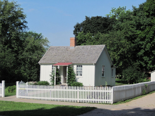 Birthplace of Herbert Hoover in West Branch, Iowa.